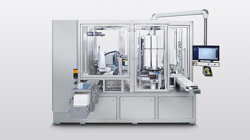 The UTW 20 ensures fully automatic winding during the production of surgical sutures