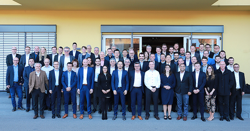 100 of Harro Höfliger's employees attended the Global Strategy Meeting.