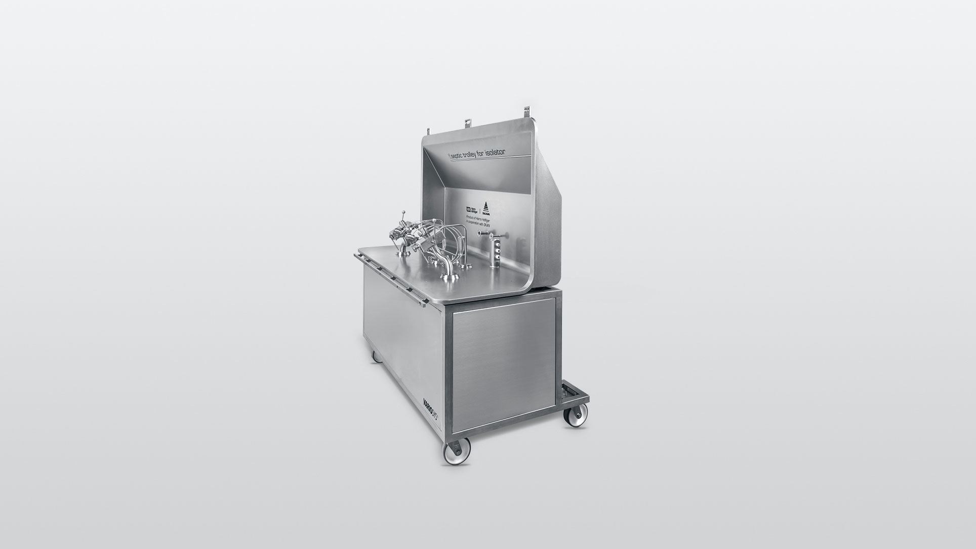 Trolley with liquid dosing unit