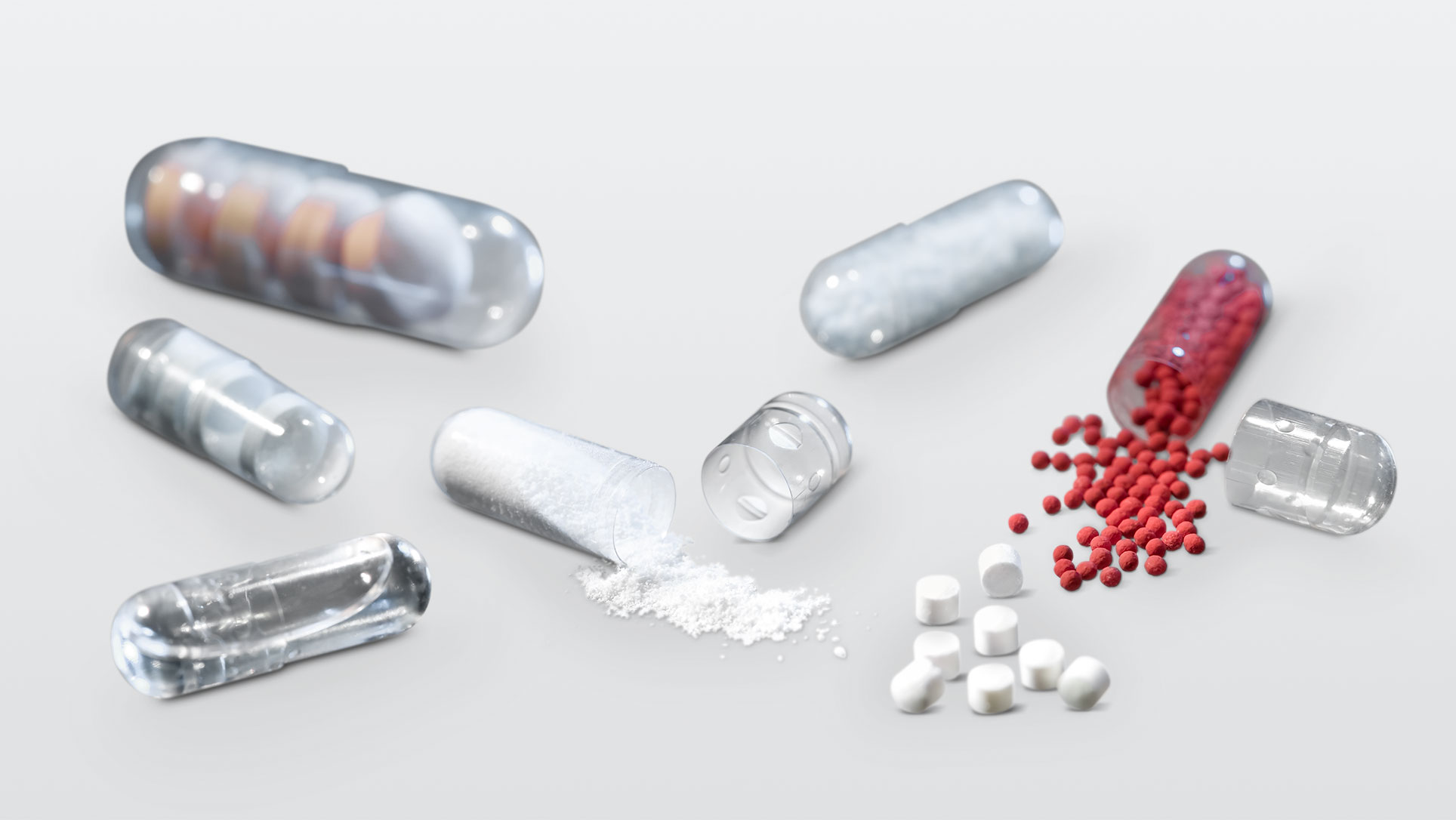 By means of various dosing systems filling of hard capsules is possible with a variety of media